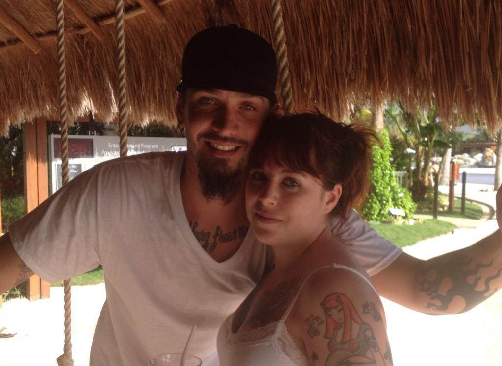 Brian and Dani on their honeymoon - 2013