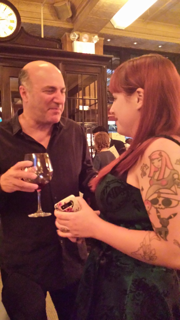 Dani Vilagie of Wicked Good Cupcakes  with Kevin O'Leary