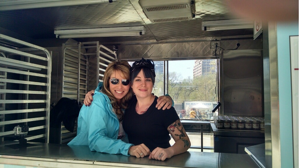 Dani and Tracey working the food truck in NYC