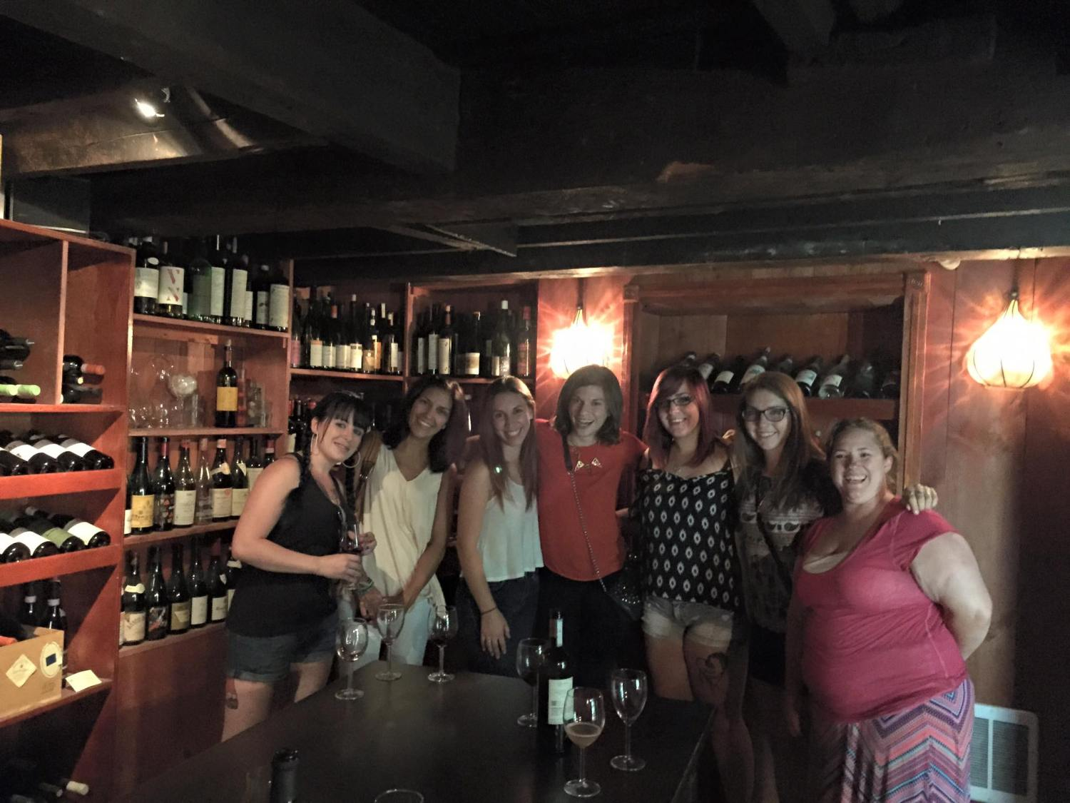 the girls on a wine tour