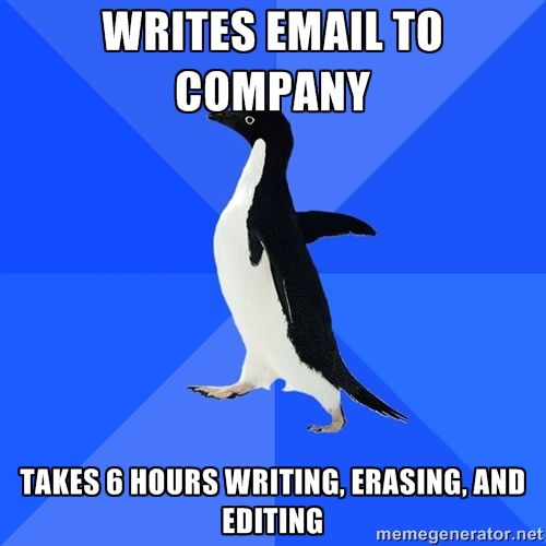 So true… and the email will three lines long.